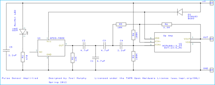 Pulse Sensor schematic