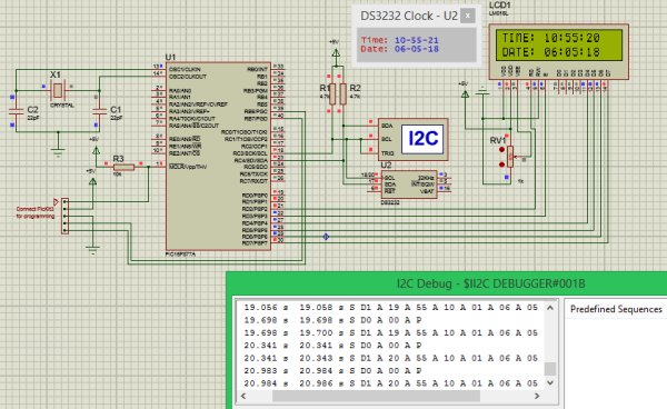 Simulation-of-RTC-Module-(DS3231)-with-PIC-microcontroller
