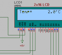 CCS LM35 TEMPERATURE SENSOR EXAMPLE WITH PIC16F877 LCD