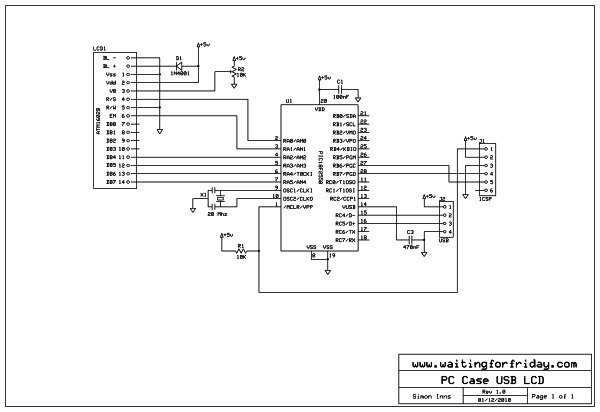 USC LCD COMPUTER schematic