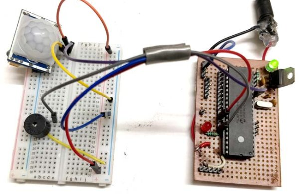 Working of PIR Sensor using PIC Microcontroller