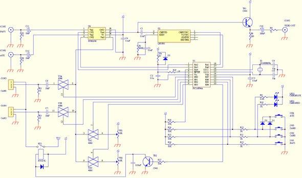 video-selector-circuit-schematic