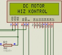 PIC16F877A DC MOTOR CONTROL CIRCUIT LCD DISPLAY