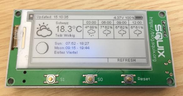ESP8266 based e-paper WiFi weather station