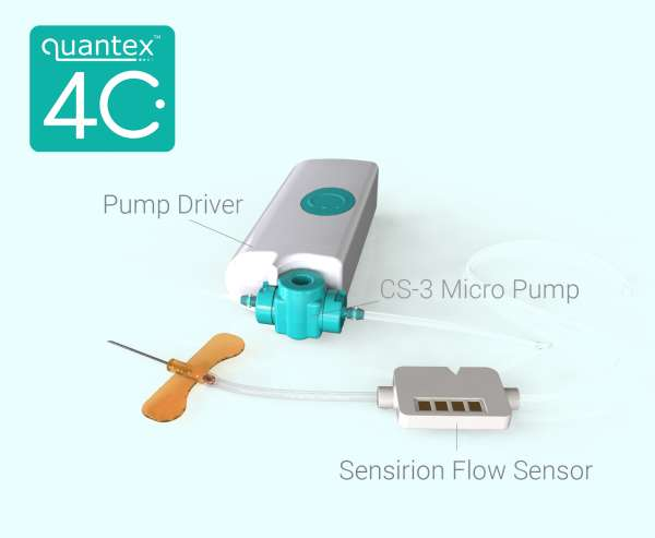LD20 LIQUID FLOW SENSOR IS PART OF WEARABLE DRUG DELIVERY IOT PLATFORM