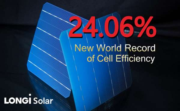 NEW 24.06% EFFICIENCY RECORD FOR BIFACIAL SILICON SOLAR CELL