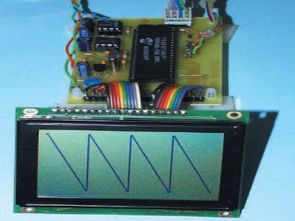 OSCILLOSCOPE CIRCUIT WITH MAX492 PIC16F877 GRAPHIC LCD