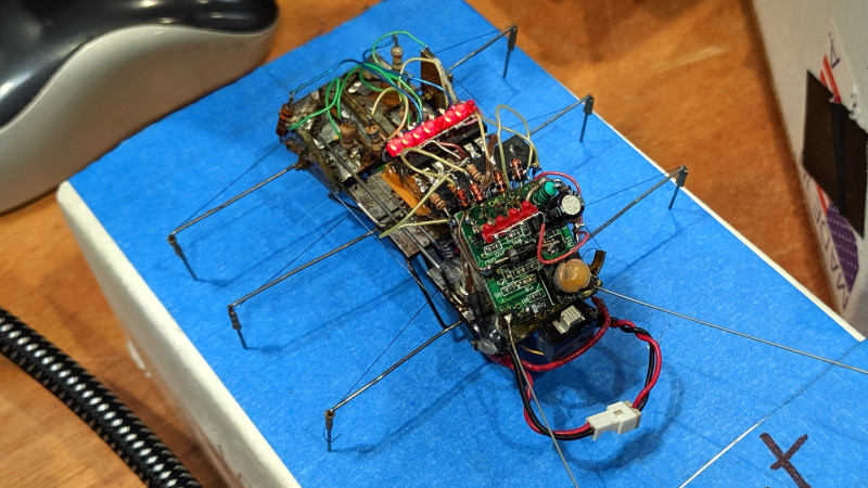 MUSCLE WIRE BUGBOT AND A RASPBERRY PI ANDROID WITH ITS EYE ON YOU AT MAKER FAIRE