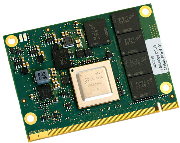 MICROSYS ELECTRONICS NEW MODULE AND SBC FEATURES NXP'S CORTEX-A72 BASED LS1028A