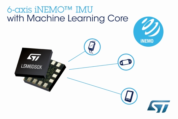 STMICROELECTRONICS LSM6DSOX INERTIAL MEASUREMENT UNIT (IMU), WITH MACHINE LEARNING CORE