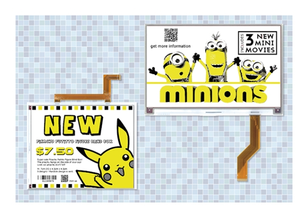 NEW LARGE-FORMAT YELLOW TRI-COLOR E-PAPER DISPLAYS OPEN THE DOOR TO MORE EFFECTIVE AND ENGAGING SIGN