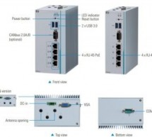 AXIOMTEK'S ANNOUNCED FOUR-POE DIN-RAIL EDGE COMPUTER FOR IP VIDEO SURVEILLANCE – ICO320-83C