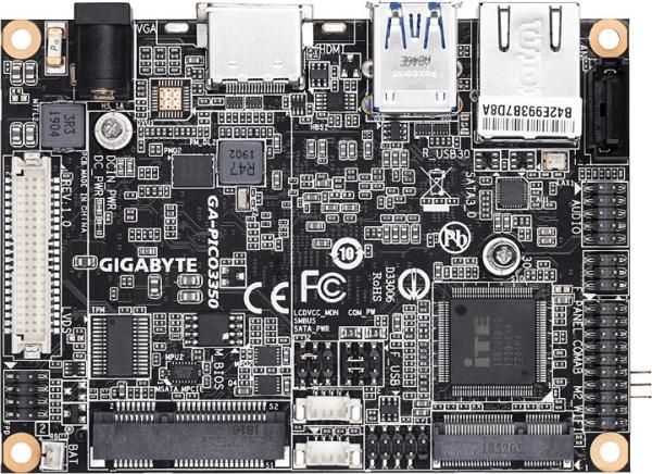 GIGABYTE GA-PICO3350 APOLLO LAKE PICO-ITX BOARD COMES WITH SO-DIMM RAM SLOT, SATA AND MSATA STORAGE