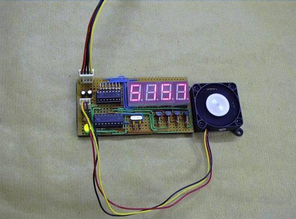PIC16F627 RPM MEASUREMENT CPU FAN SPEED INDICATOR CIRCUIT