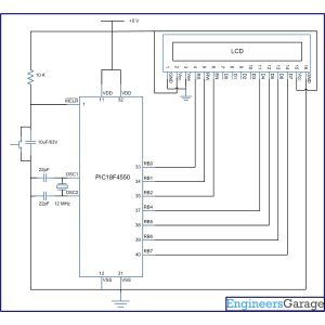 Circuit-Diagram-of-How-to-interface-16×2-LCD-in-4-bit-mode-with-PIC-Microcontroller-PIC18F4550