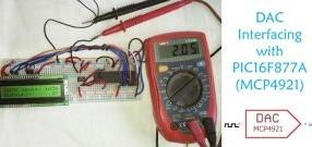 DAC MCP4921 Interfacing with PIC Microcontroller PIC16F877A