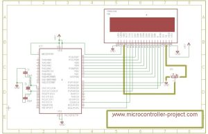 Graphical lcd with pic microcontroller – Project Circuit Diagram