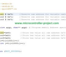 Microchip xc8 compiler place data in ram specific location/address of pic microcontroller