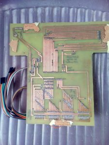 Pic16f877 microcontroller PLC (Programmable Logic Controller) status board PCB back