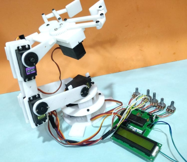 Robotic Arm Control using PIC Microcontroller