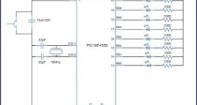 How to interface LEDs with PIC Microcontroller (PIC18F4550)
