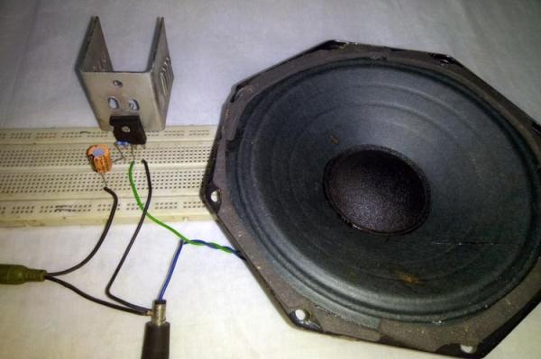 12V Audio Power Amplifier using TIP35C – Class A Amplifier