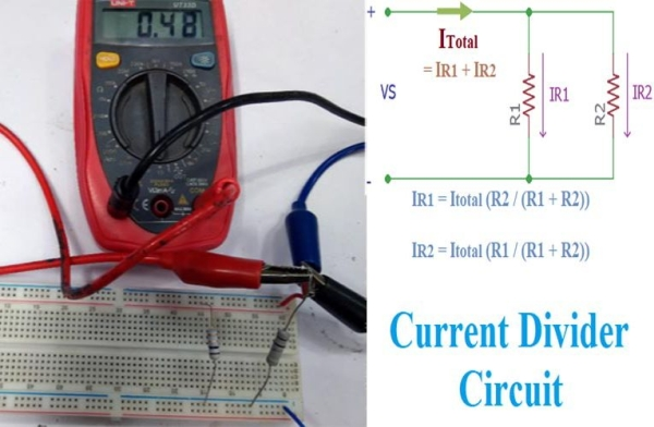 Current Divider Circuits Explained with Formula and Practical Hardware
