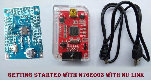 Getting Started With Nuvoton N76E003 using Keil – Blinking an LED