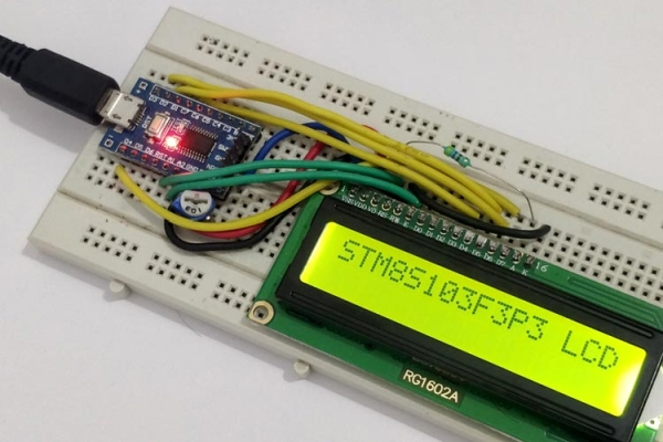 Interfacing 16x2 Alphanumeric LCD display with STM8 Microcontroller