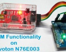PWM Signal on Nuvoton N76E003 Microcontroller – LED Dimming using Duty Cycle Control