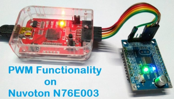 PWM Signal on Nuvoton N76E003 Microcontroller - LED Dimming using Duty Cycle Control
