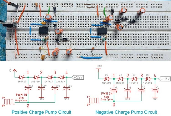 Positive and Negative Charge Pump Circuit