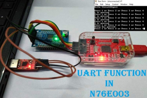 UART Communication with Nuvoton N76E003 Microcontroller – Serial Communication