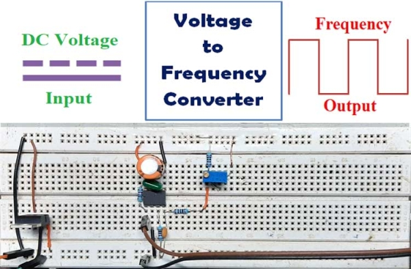 Voltage to Frequency Converter using AD654