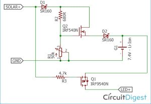Solar Garden Light Circuit Diagram